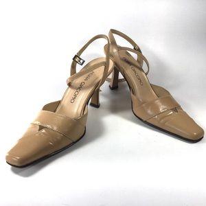 Shoes - Ferra Giacomo Tan Ankle Strap  Heels size 35